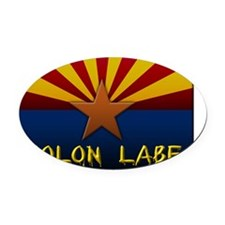 Arizona Flag Molon Labe Oval Car Magnet