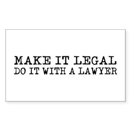 Make It Legal Lawyer Rectangle Sticker