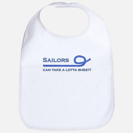 Sailors Can Take A Lotta Sheet Bib