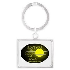 I LOVE YOU TO THE MOON AND BACK Landscape Keychain