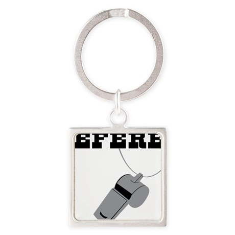 Referee Square Keychain