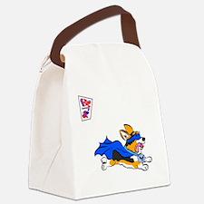 Corgi Super Hero Canvas Lunch Bag