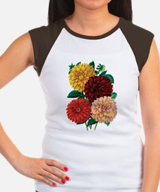 Dahlias Women's Cap Sleeve T-Shirt