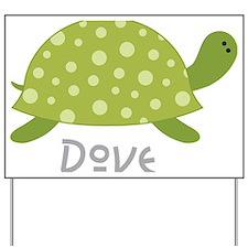 Dove Turtle Yard Sign