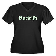 Burleith Women's Plus Size V-Neck Dark T-Shirt