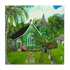 Waioli Church Tile Coaster