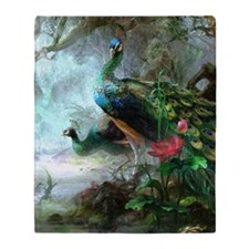 Beautiful Peacock Painting Throw Blanket
