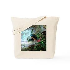 Beautiful Peacock Painting Tote Bag