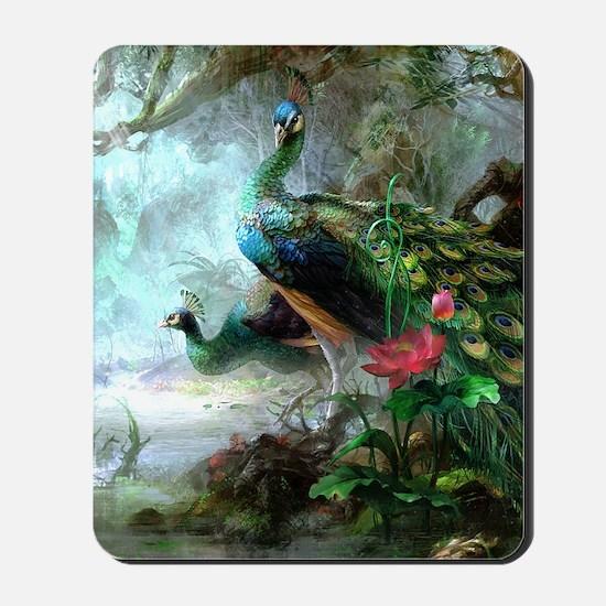 Beautiful Peacock Painting Mousepad