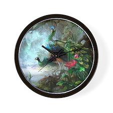 Beautiful Peacock Painting Wall Clock