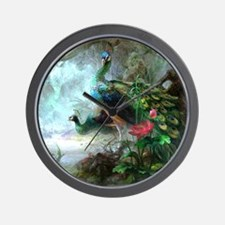 Beautiful Peacock Painting Wall Clock