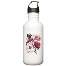 Magnolia Flowers Water Bottle