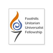 "Foothills Color Logo Square Sticker 3"" x 3"""