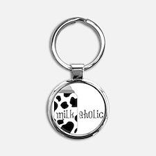 Milk-aholic Round Keychain