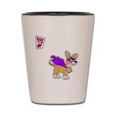 Chihuahua Super Hero Shot Glass