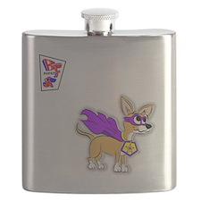 Chihuahua Super Hero Flask