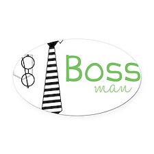 Boss Man Oval Car Magnet