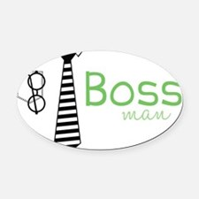 Boss Man Oval Car Magnet