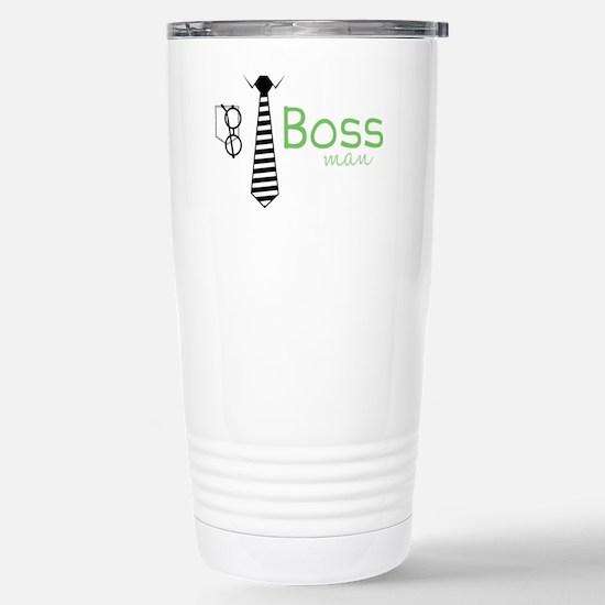 Boss Man Stainless Steel Travel Mug