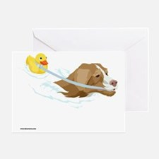 Toller_Ducky_10x10_apparel Greeting Card