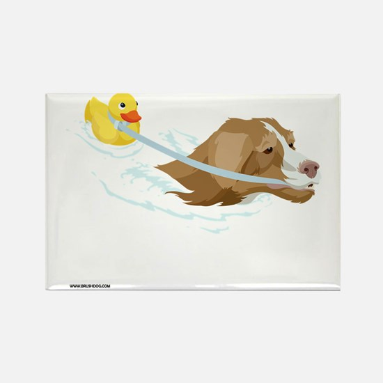 Toller_Ducky_10x10_apparel Rectangle Magnet