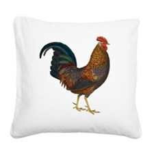 Rooster Square Canvas Pillow