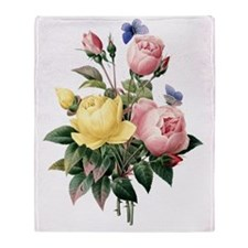 Pretty Roses Throw Blanket