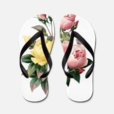 Pretty Roses Flip Flops