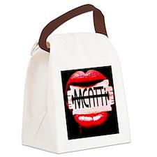 MEATTi Back Lips Logo Canvas Lunch Bag