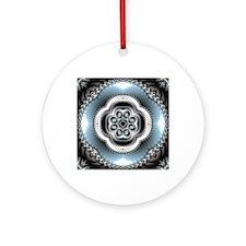 Intervolve Pattern Round Ornament