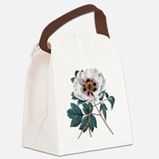 Vintage Peony Canvas Lunch Bag