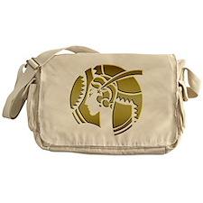 Golden Art Deco Lady Messenger Bag