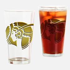 Golden Art Deco Lady Drinking Glass