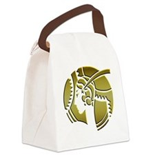 Golden Art Deco Lady Canvas Lunch Bag