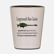 Largemouth Bass Guitar Shot Glass