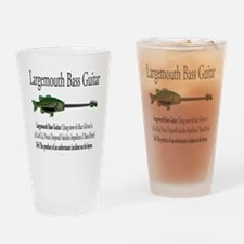 Largemouth Bass Guitar Drinking Glass