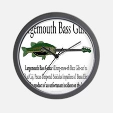 Largemouth Bass Guitar Wall Clock