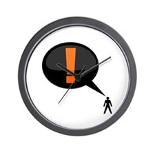 Cute Exclamation point Wall Clock