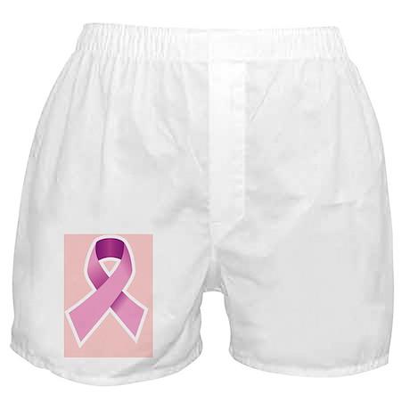 Breast Cancer Ribbon. Pink symbol Boxer Shorts