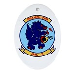 HAL-3 Seawolves Oval Ornament