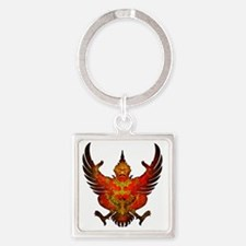 thailand coat of arms Square Keychain