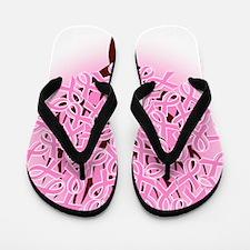breast cancer pink ribbon tree Flip Flops