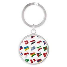 Vector set of world flags 3 Round Keychain