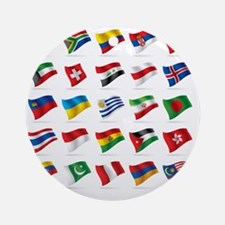 Vector set of world flags 3 Round Ornament