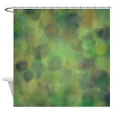 Subdued green and yellow palette Shower Curtain