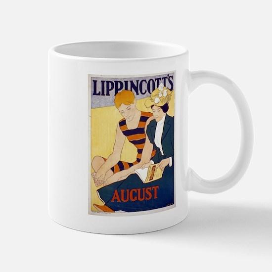 Lippincotts August - J J Gould - 1896 - Poster Mug