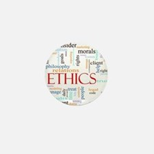 Ethics word concept illustration Mini Button