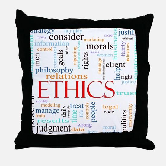 Ethics word concept illustration Throw Pillow