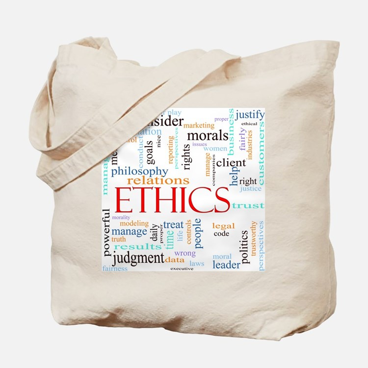 Ethics word concept illustration Tote Bag