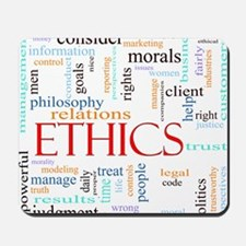 Ethics word concept illustration Mousepad